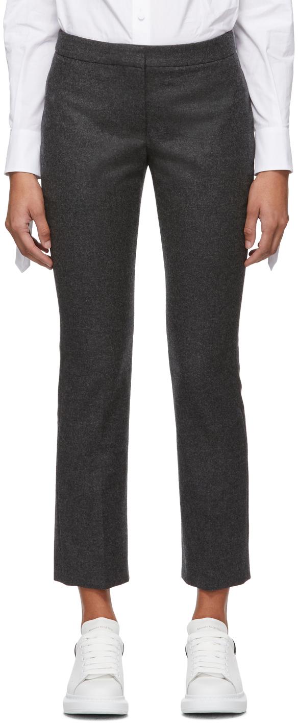 Alexander Mcqueen Pants Grey Flannel Trousers