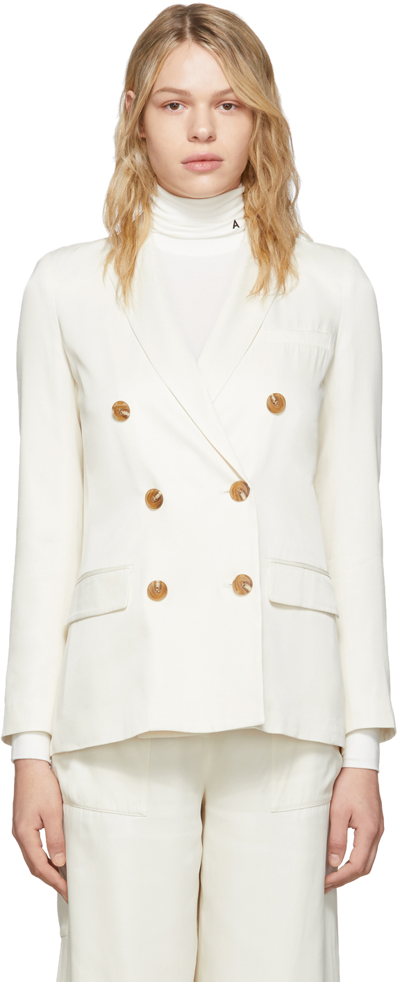 Opening Ceremony  Off-White Double-Breasted Blazer
