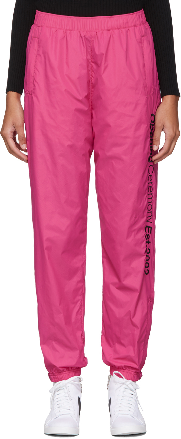 Opening Ceremony Pants SSENSE EXCLUSIVE Pink Nylon Track Pants