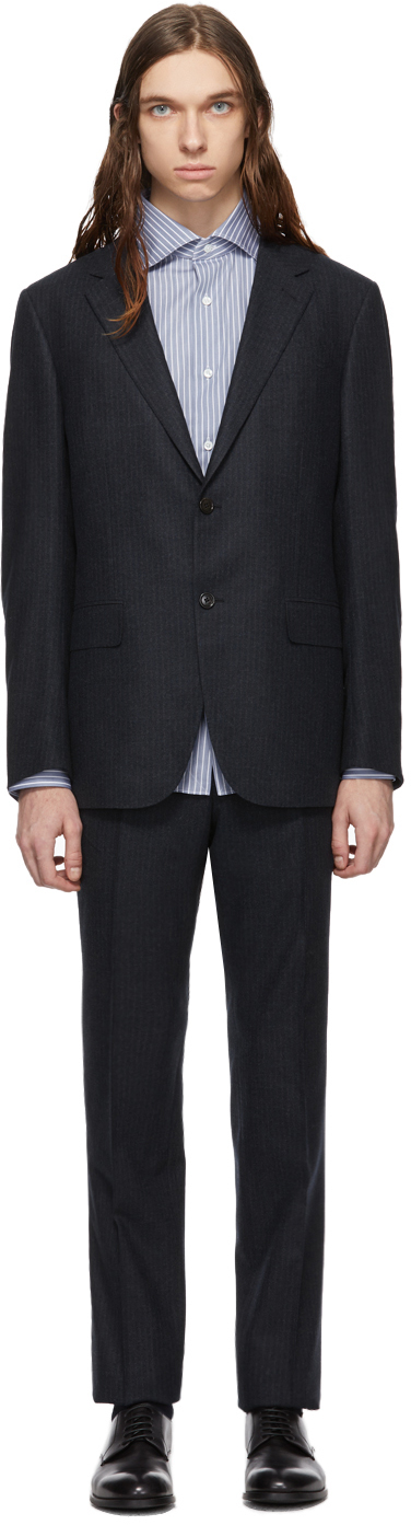 Ermenegildo Zegna Suits Navy Milano Easy Suit