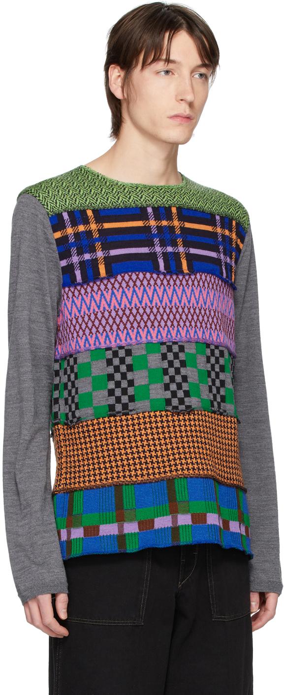 Comme Des Garçons Shirt Sweaters Multicolor Multipattern Wool Gauge 14 Sweater