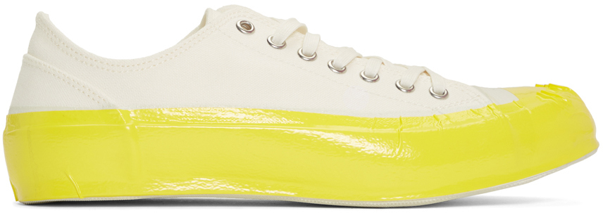 Comme Des Garçons Shirt Off-White & Yellow Spingle Move Edition Craft Tape Sneakers