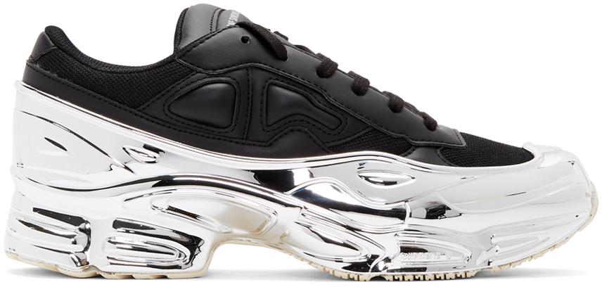 Raf Simons Sneakers Black & Silver adidas Originals Edition Ozweego Sneakers