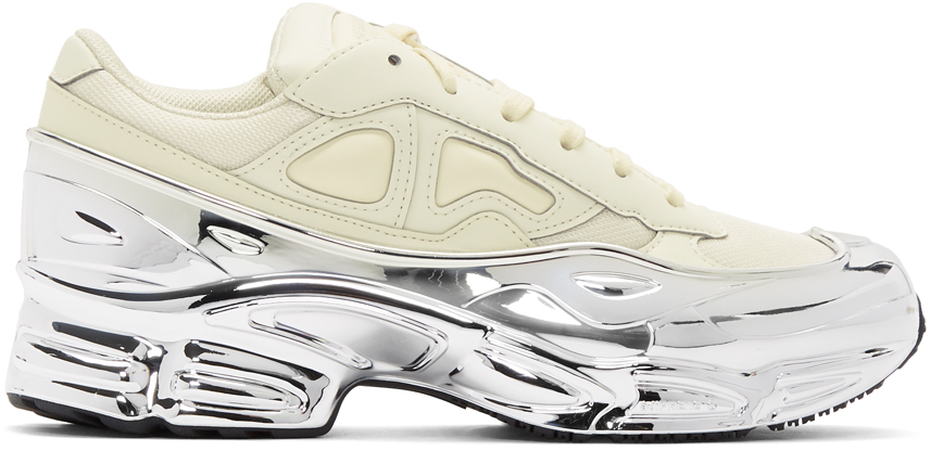 Raf Simons Sneakers White & Silver adidas Originals Edition Ozweego Sneakers