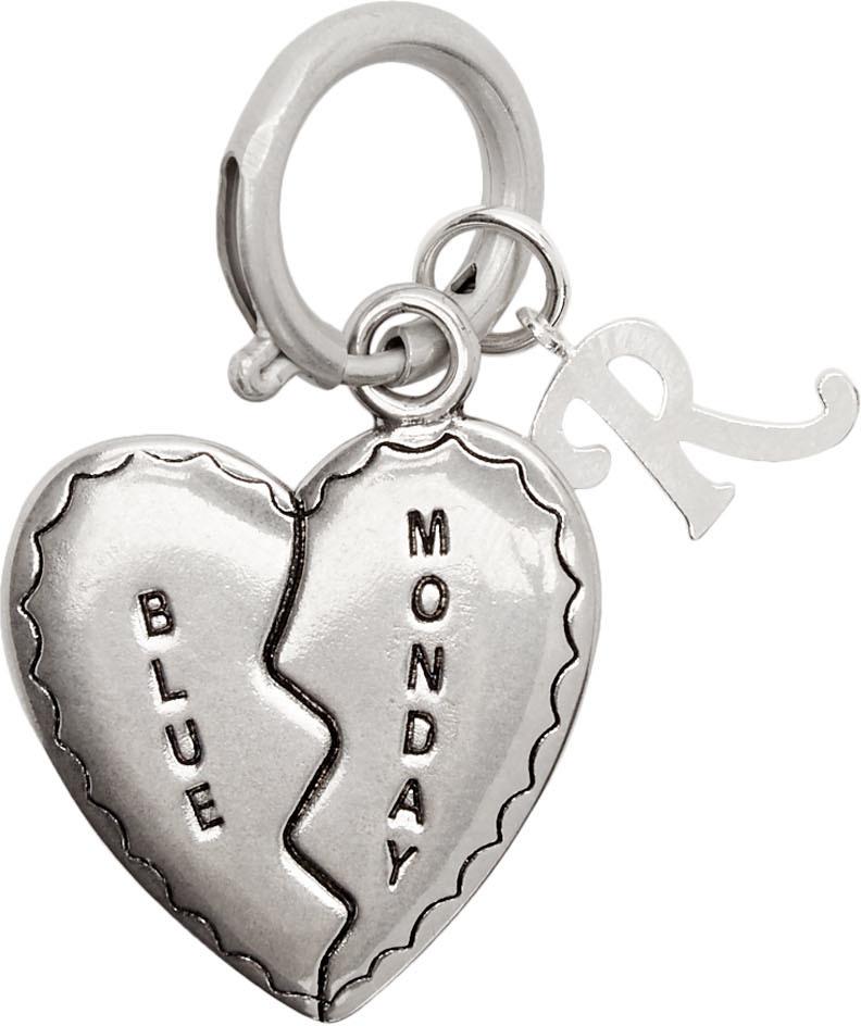 Raf Simons Keychains Silver Broken Heart Charm Keychain