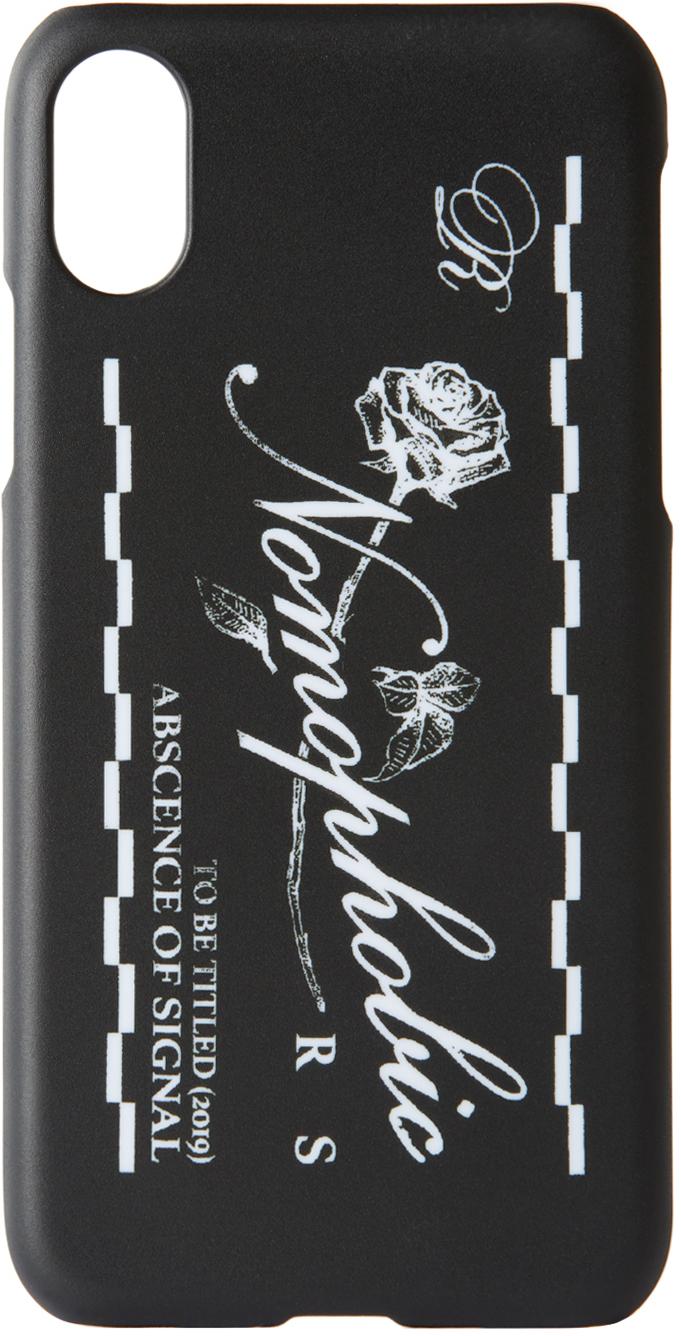 Raf Simons Cases Black & White Logo iPhone X Case