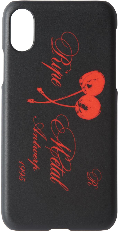 Raf Simons Cases Black 'Ripe Metal' iPhone X Case