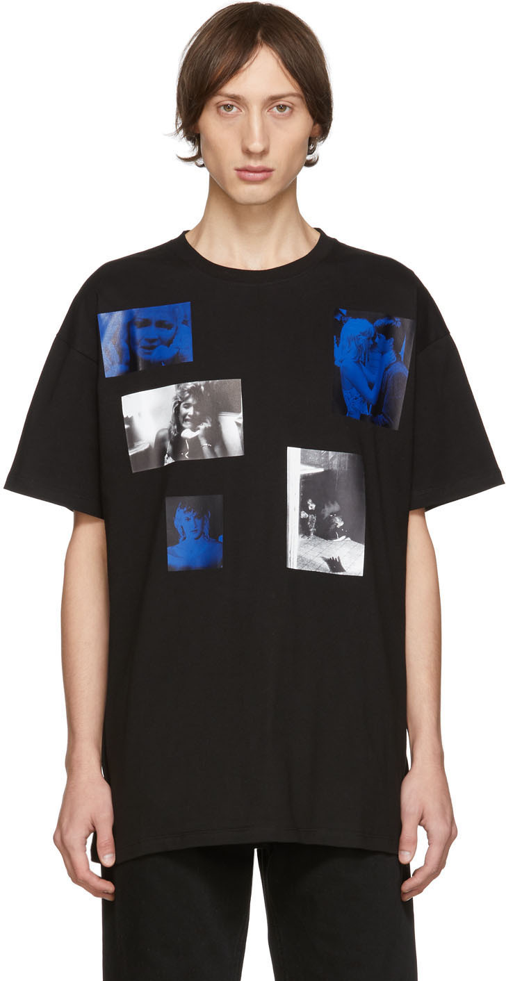 Raf Simons T-shirts Black Six Picture T-Shirt