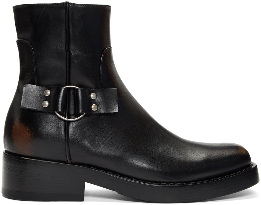 Raf Simons Boots Black High Sole Detail Low Boots