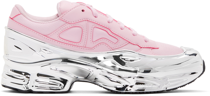 Raf Simons Sneakers Pink & Silver adidas Originals Edition Ozweego Sneakers