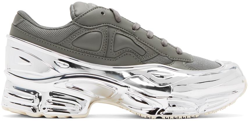 Raf Simons Sneakers Grey & Silver adidas Originals Edition Ozweego Sneakers