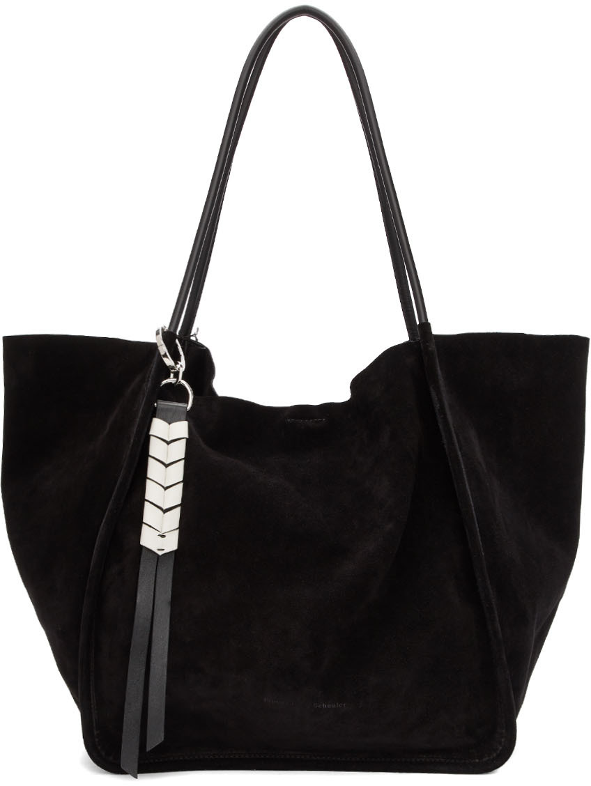 Proenza Schouler Totes Black Extra Large Suede Tote