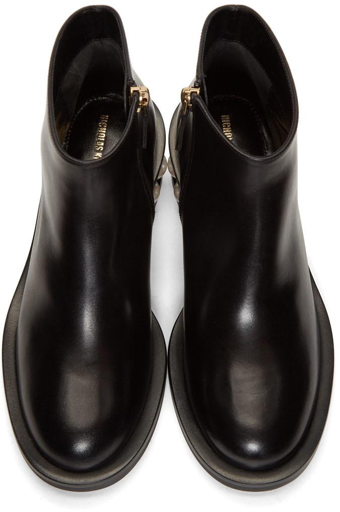 Nicholas Kirkwood Boots Black Casati Pearl Ankle Boots