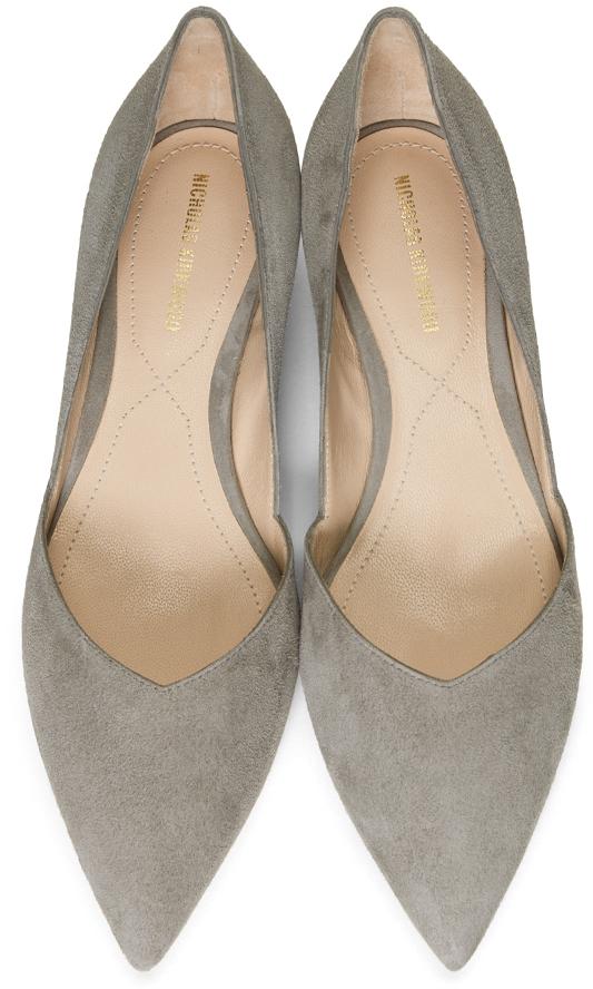 Nicholas Kirkwood Flats Grey Casati D'Orsay Ballerina Flats
