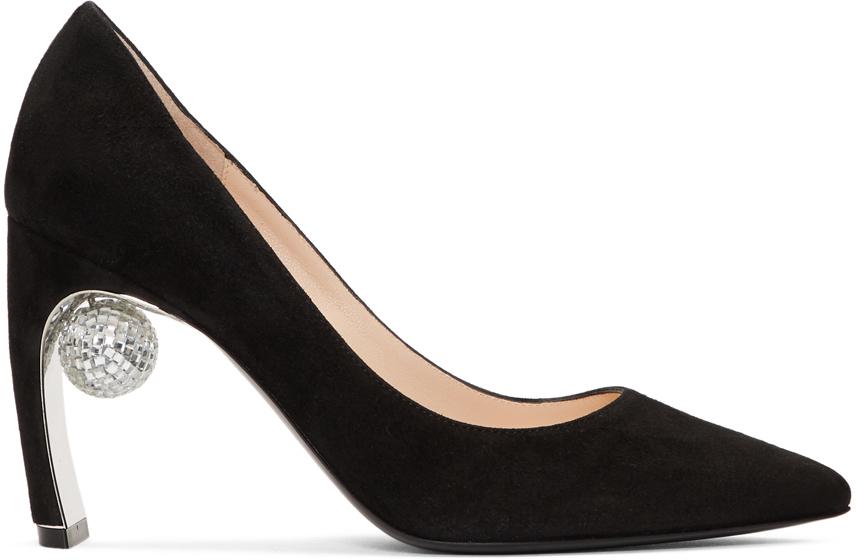 Nicholas Kirkwood Shoes Black Suede Maeva Pumps