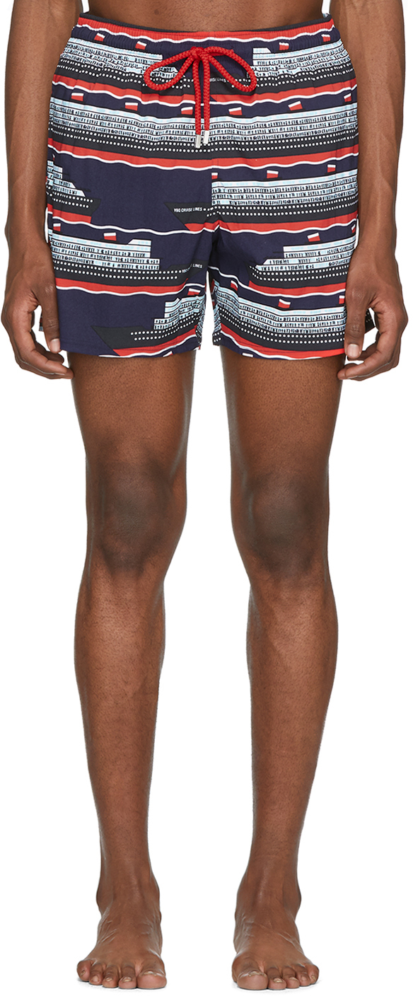 Vilebrequin Beachwear Multicolor VBQ Cruise Lines Moonrise Swim Shorts