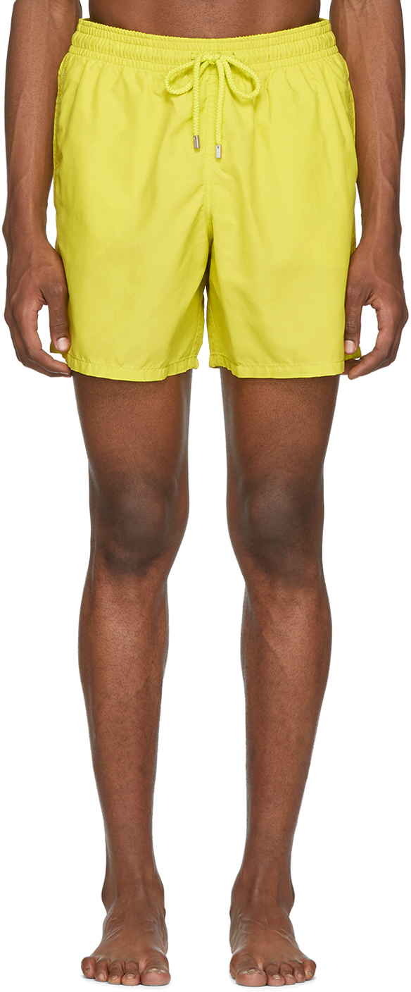 Vilebrequin Beachwear Yellow Solid Moorea Swim Shorts
