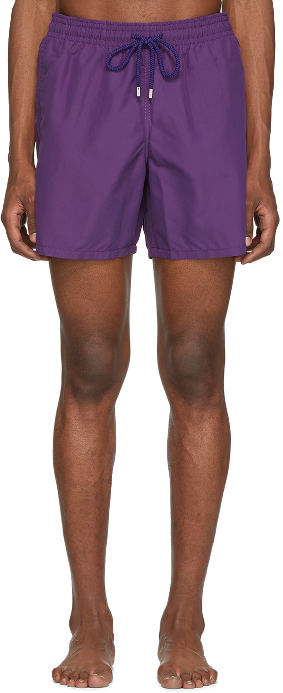 Vilebrequin Beachwear Purple Solid Moorea Swim Shorts