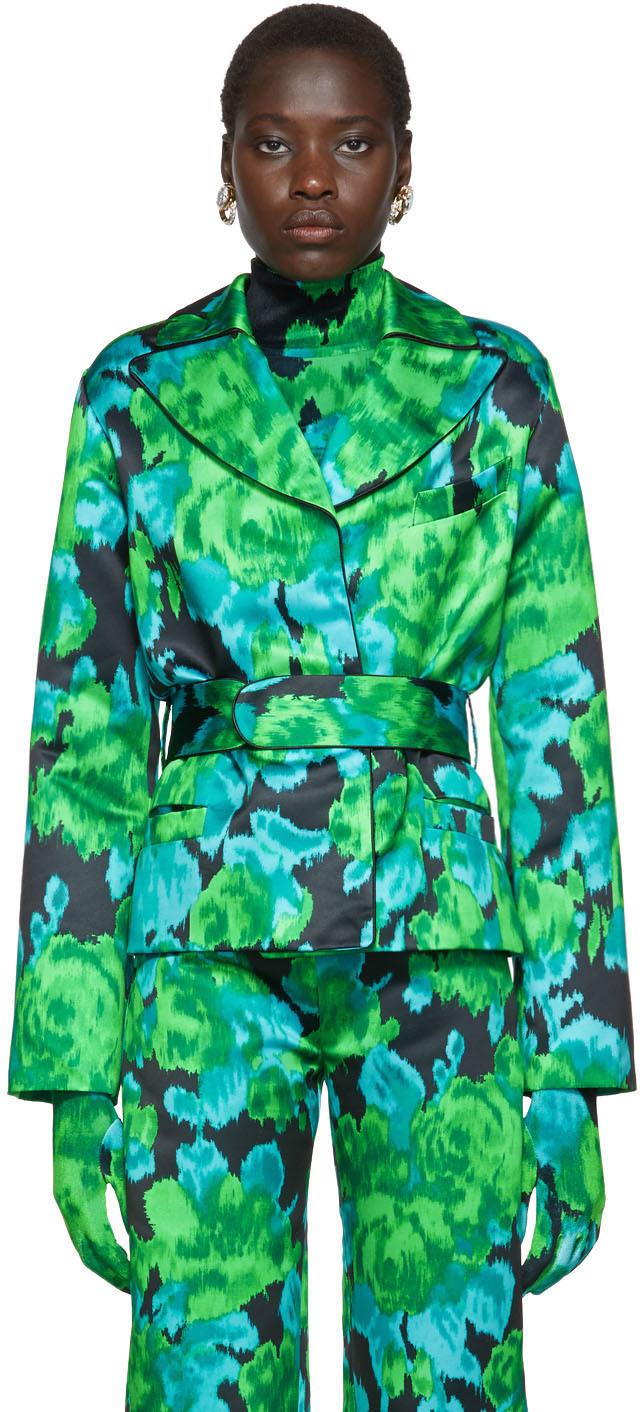 Richard Quinn Blazers Green Floral Blazer