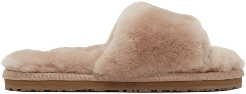 Mou Flats Pink Sheepskin Fur Slipper