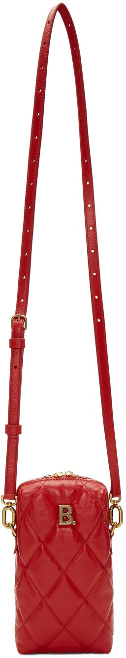Balenciaga Shoulder Red B. Touch Rectangle Bag