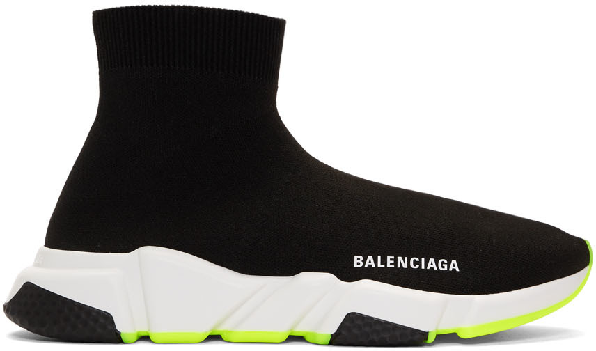 Balenciaga Sneakers Black & Yellow Speed Sneakers