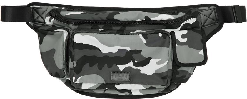 Juun.j Accessories Grey Camo Waist Bag