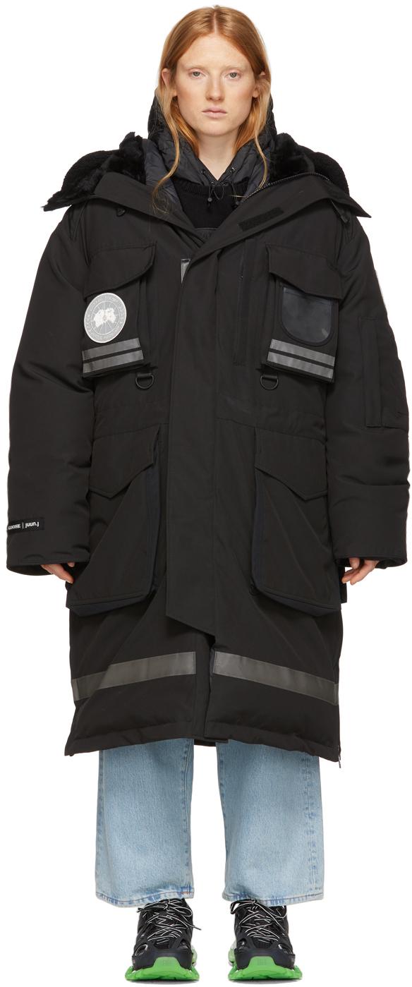 Juun.j Accessories Black Canada Goose Edition Down Snow Mantra Parka