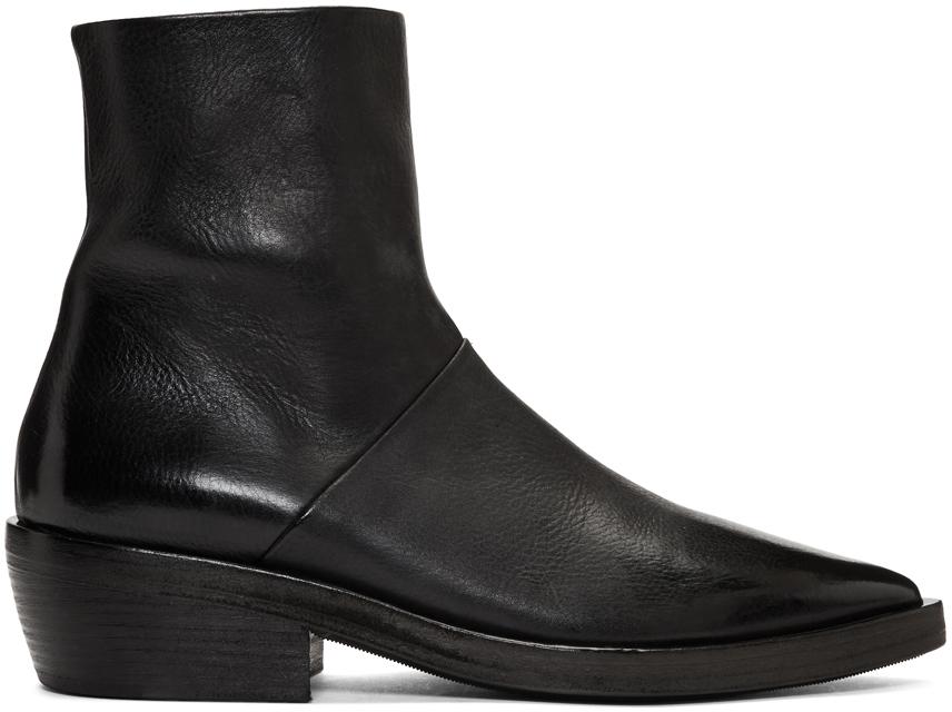 Marsèll Boots SSENSE Exclusive Black Coneros Boots