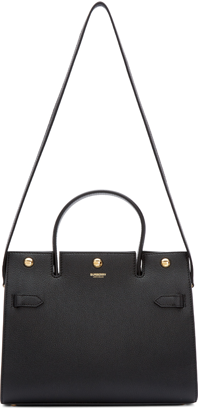 Burberry Totes Black Small Title Bag