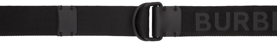 Burberry Belts Black Double D Ring Belt