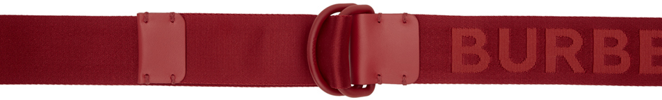 Burberry Belt Red Double D Ring Belt