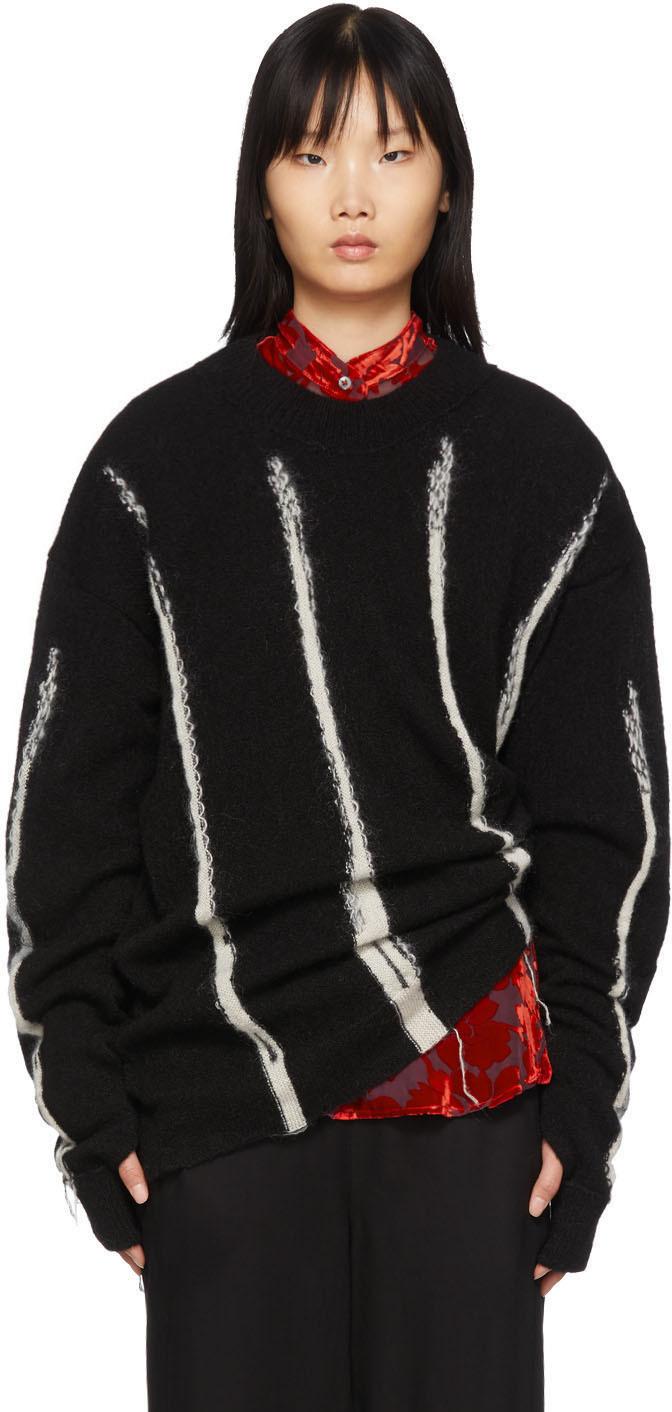 Ann Demeulemeester Knits Black Knit Sweater