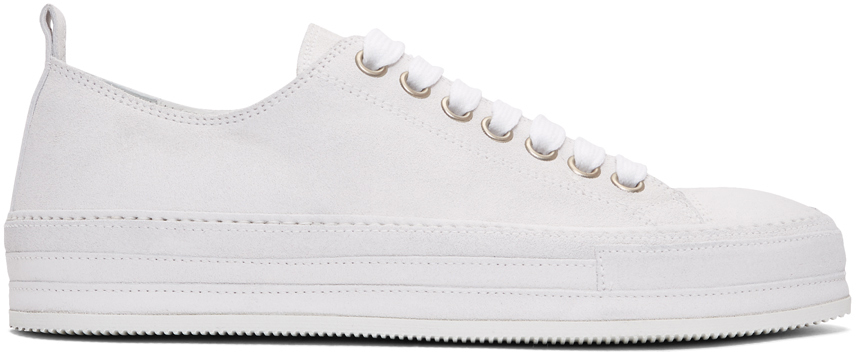 Ann Demeulemeester Off-White Suede Roccia Sneakers
