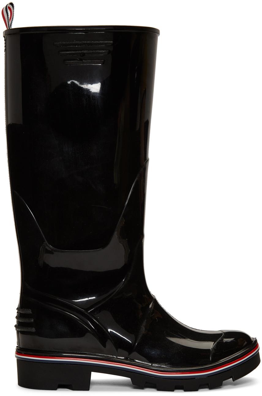Thom Browne Boots Black Wellington Rain Boots