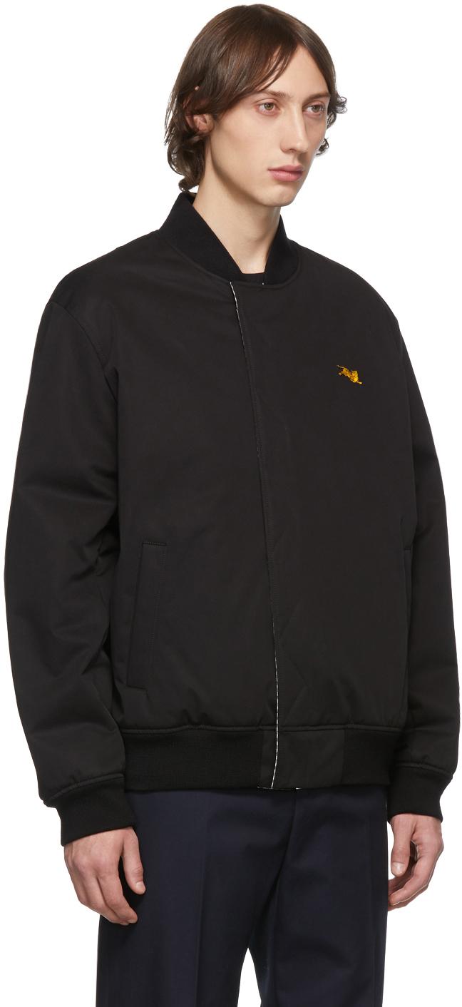KENZO Cottons Reversible Black Bomber Jacket