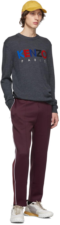 KENZO Wools Grey Wool 'Kenzo Paris' Sweater