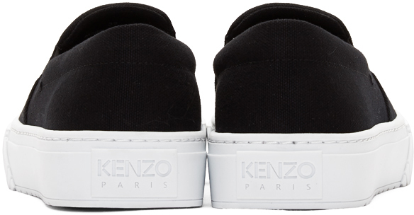 Kenzo Sneakers Black Tiger K-Skate Slip-On Sneakers