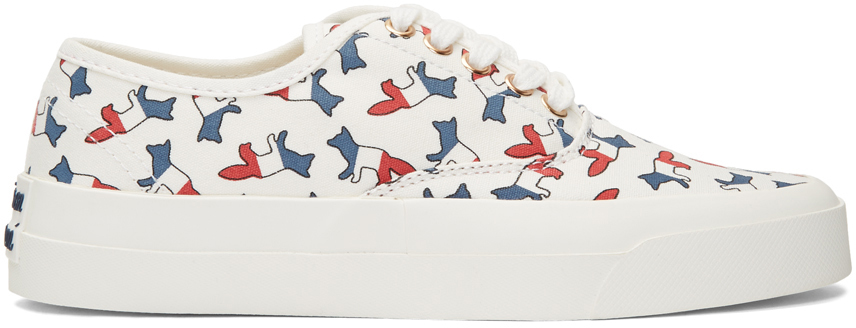 Maison Kitsuné Sneakers White Multicolor Print Fox Sneakers