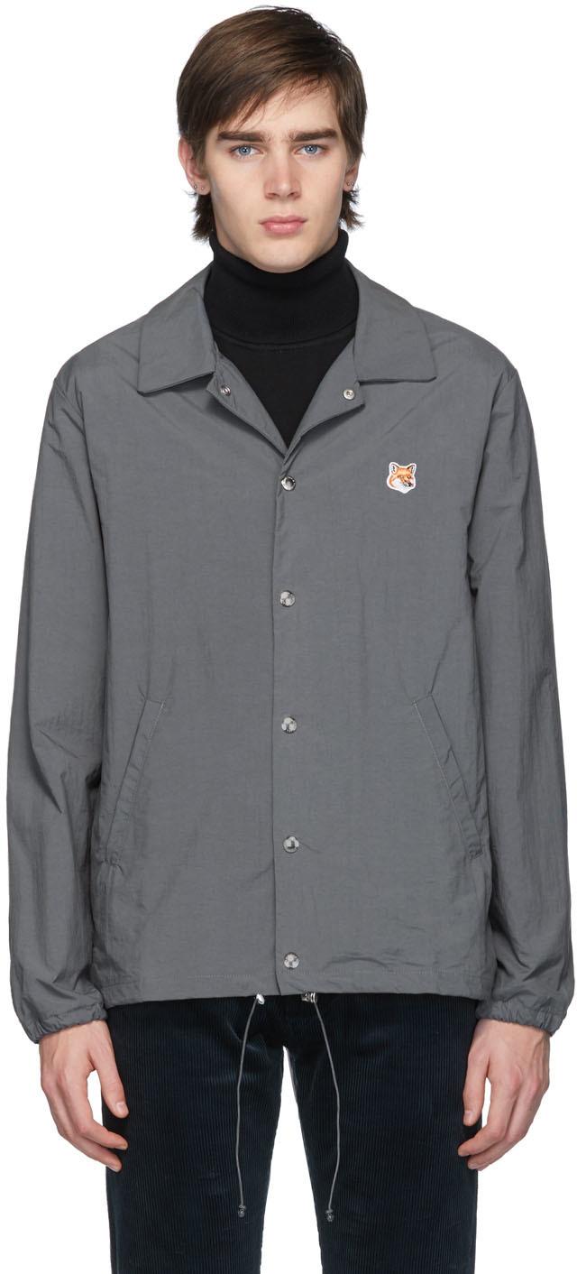 Maison Kitsuné Jackets Grey Bertil Fox Head Jacket