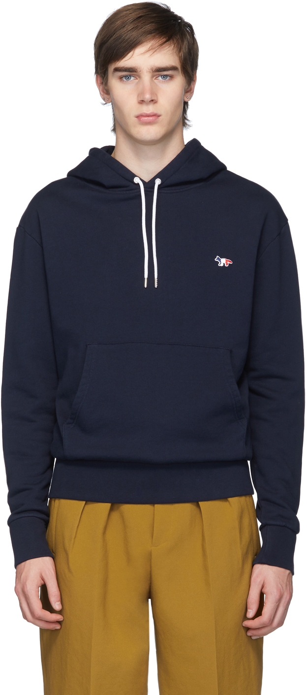 Maison Kitsuné Accessories Navy Tricolor Fox Hoodie