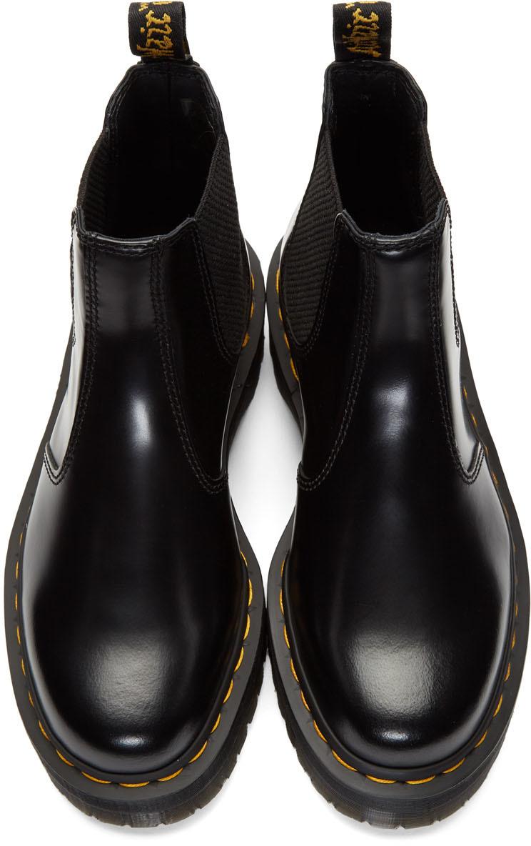 Dr. Martens Boots Black 2976 Quad Platform Chelsea Boots