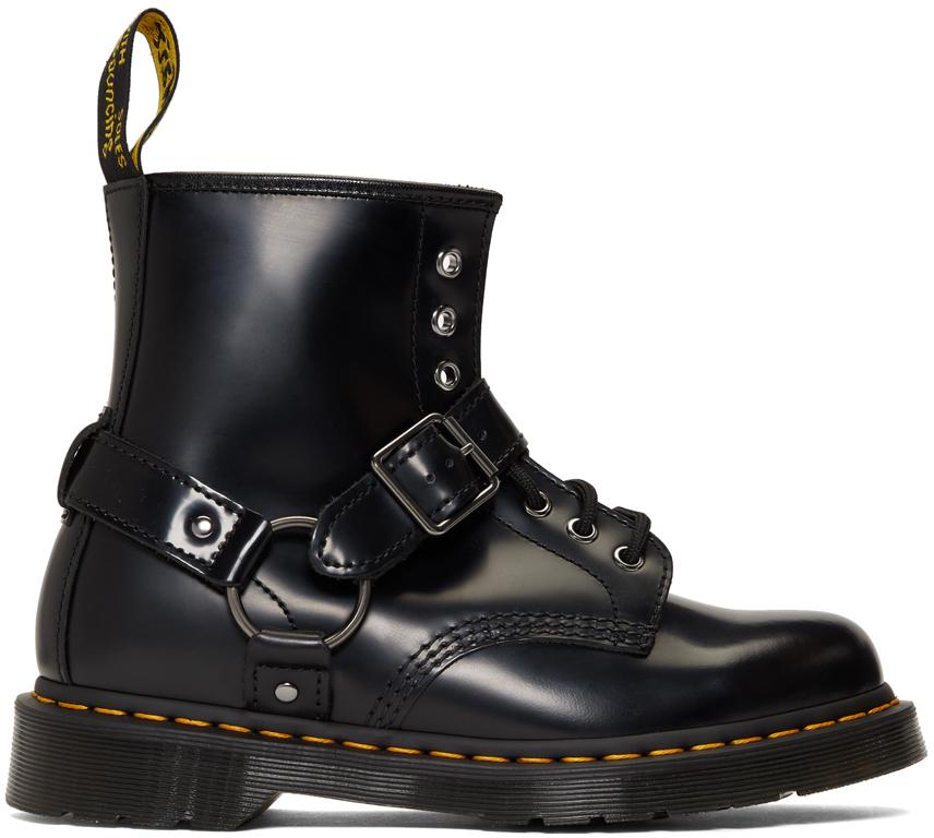 Dr. Martens Boots Black 1460 Harness Boots