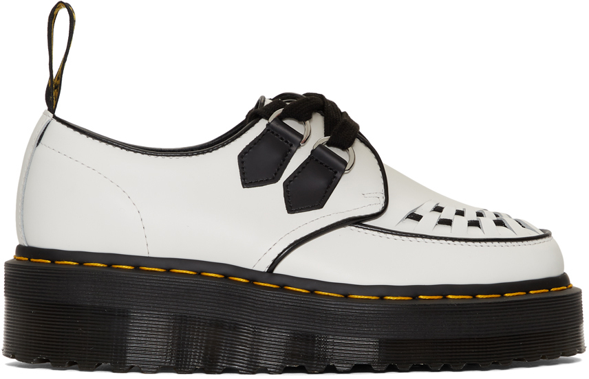 Dr. Martens White Sidney Chunky Wedge Derbys
