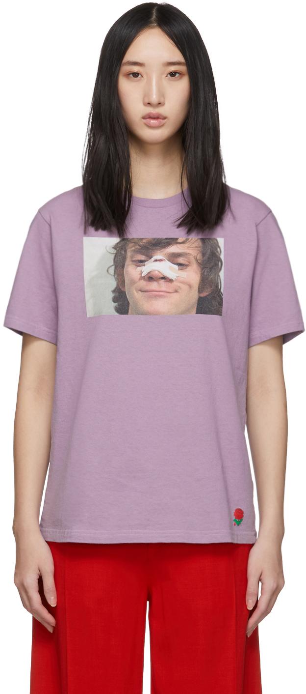 Undercover T-shirts Purple A Clockwork Orange Alex Broken Nose T-Shirt