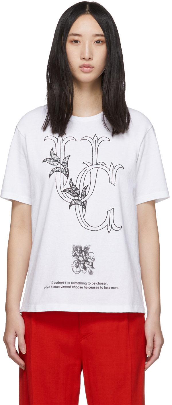 Undercover T-shirts White 'UC' Crest T-Shirt
