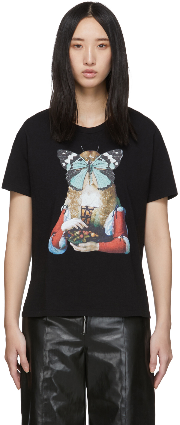 Undercover T-shirts Black Butterfly T-Shirt