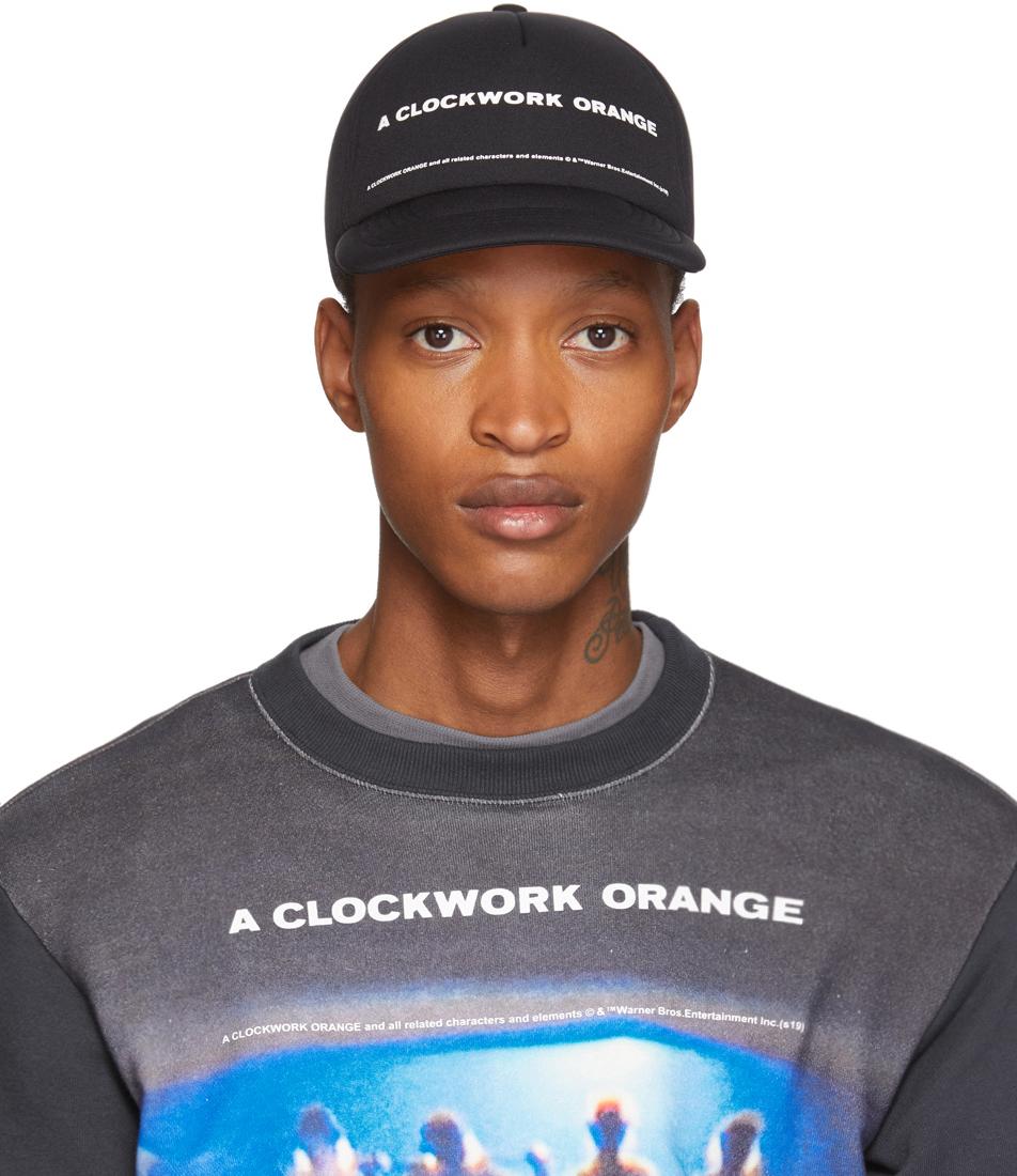 Undercover Flats Black A Clockwork Orange Print Cap