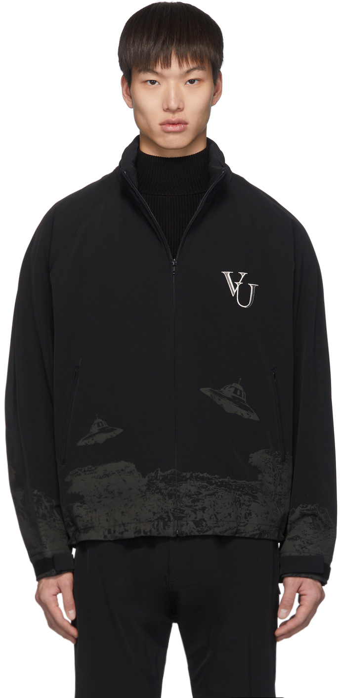 Undercover Jackets Black Valentino Edition 'Time Traveller' Hooded Jacket
