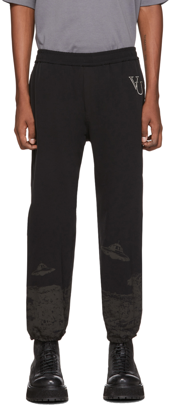 Undercover Pants Black Valentino Edition Printed Track Pants